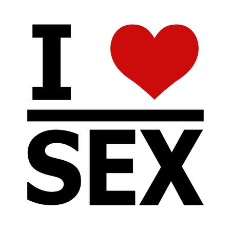 Me encanta el sexo, imprimir para ropa camiseta sudadera, vector me encanta con un corazón por tela