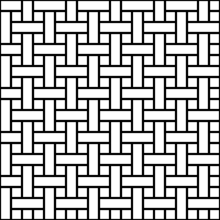Geometric seamless pattern weave line stripe, vector texture weave fabric stripes, national ethno folk background