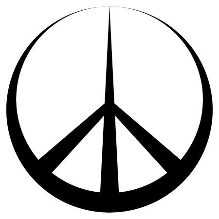 Peace symbol Pacific conciliatory sign, vector symbol of disarmament and anti war movement Ilustrace