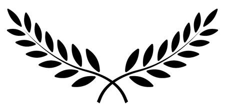 branche d'olivier, couronne de laurier, symbole du prix du gagnant vectoriel, signe de victoire et de richesse dans l'empire romain Vecteurs