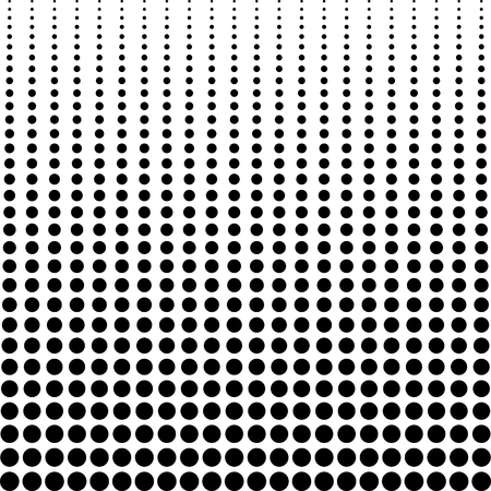 halftone background, decreasing black dots vertically, vector halftone background for comics or manga
