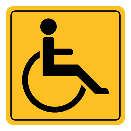 icon sign invalid disabled, vector symbol yellow square with rounded corners invalid disabled