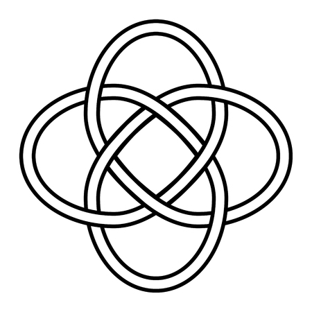 Celtic knot symbol of eternity and interconnection of all things, vector sign of luck and infinite love, tattoo logo jewelry infinity