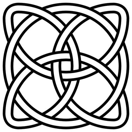 Celtic shamrock knot in a circle symbol of Ireland, vector symbol of infinity, longevity and health