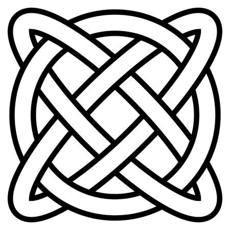 Celtic knot symbol eternal life infinity, vector amulet symbol longevity and health, symbol of mental health and well being