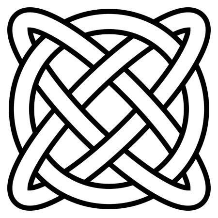 Símbolo de nudo celta infinito de la vida eterna, vector amuleto símbolo longevidad y salud, símbolo de salud mental y bienestar
