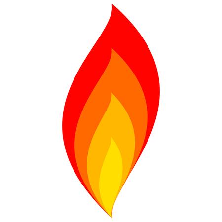 ikona ognia płomień wektor znak symbol ognia z płomienia