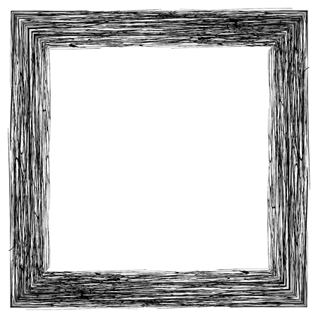Frame for photos or pictures, pencil shading, vector hand draw frame hatched engraving