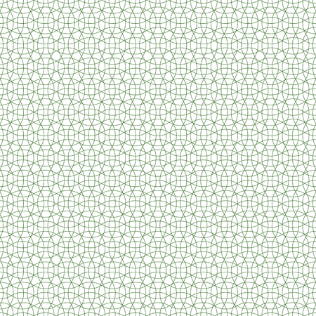 seamless guilloche background pattern, green, vector protective mesh for valuable documents, seamless guilloche patterned mesh Ilustração
