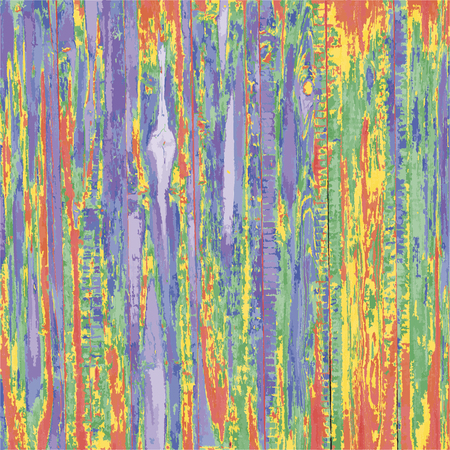 Wooden planks wood structure repainted in colorful colors, vector alien multi colored background, abstract painting picture
