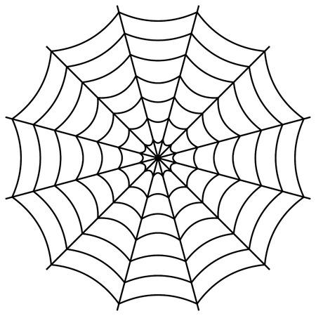 Rond het spinnenweb, spinnenweb vector symbool teken van verwarring en een netwerk van valstrikken