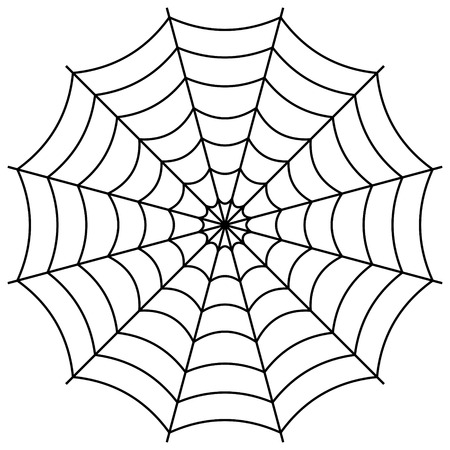 Round the spiders web, cobweb vector symbol sign of confusion and a network of trap