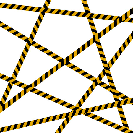 Background, crime scene, caution tape, police line and hazard tapes are crossed, all sealed, do not pass, do not cross