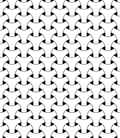 seamless geometric mesh pattern vector illusion triangular mesh netting black and white circles with volumetric effect Ilustração