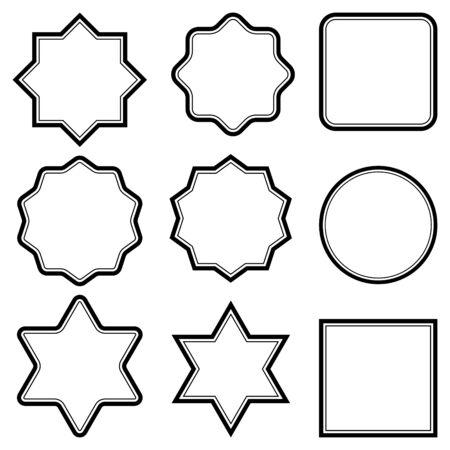 Set tag sticker badge stock, vector element uniforms, ammunition, badge, stickers, cards