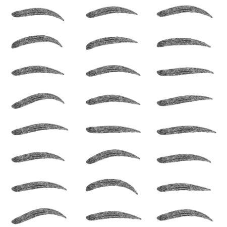Set shape eyebrow design, vector set of eyebrow shapes for makeup Studio, shape correction Vector Illustratie