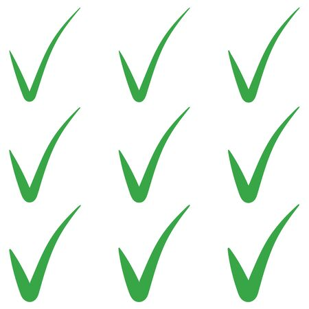 Set tick green checkmark correct mark checkbox, vector tick green checkmark symbol of approval