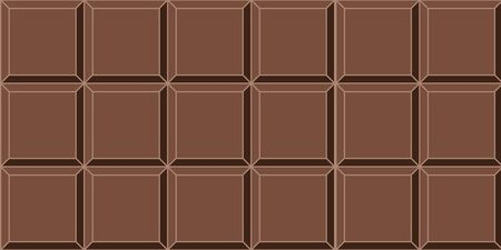 seamless background dark chocolate tile vector seamless delicious mouth watering dark chocolate bar background Illustration