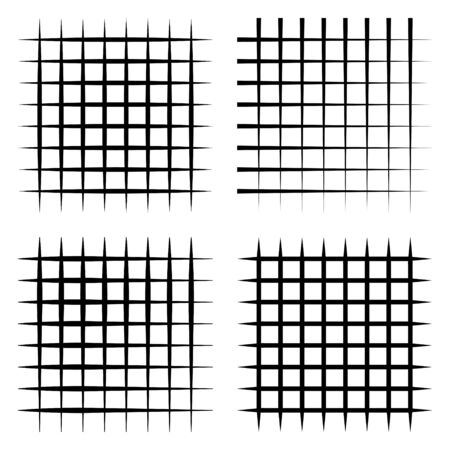Set abstract grid elegant stripes lines, vector grid Horizontal and vertical black bands. Checked square, plaid vector pattern