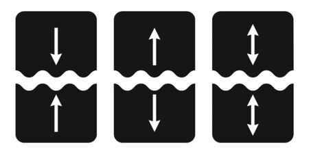 Set of icons cut, join, vector symbol of separation, gluing, object parts sign of welding and tearing