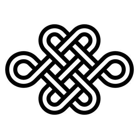 Sign eternal youth, beauty and health, vector node of longevity without end and beginning. Symbol of the energy balance needed for a healthy and happy life