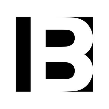 Simple elegant  letter B, vector Premium business  letter b, Graphic alphabetic symbol business corporate identity Ilustração