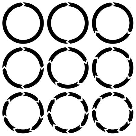 ring is broken into sectors of circular arrows icon vector infographics download loading, set icons ring broken sectors transparent background for concept design. Round shape Illusztráció