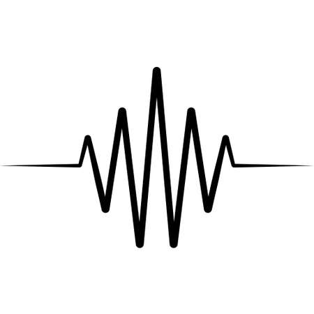 Activity splash icon wave , vector heartbeat heart rate icon, audio sound radio wave amplitude spikes