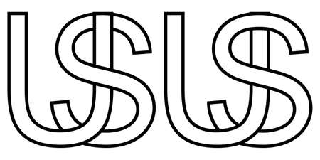 Two interlaced letters U and S
