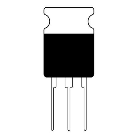 transistor semiconductor element icon, vector electronic component transistor 矢量图像