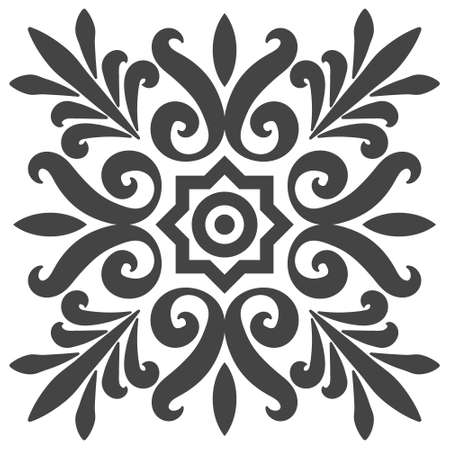 National ethno pattern flowers plant vector classic ethno pattern