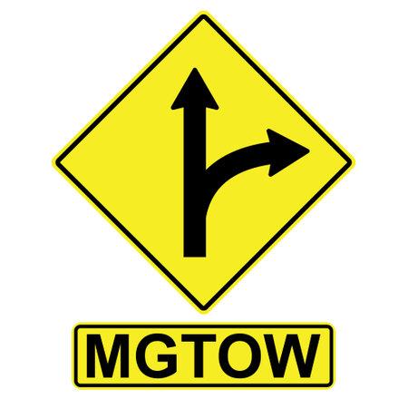 MGTOW Men Go Their Own way vector arrow sign aside Men Go Their Own way