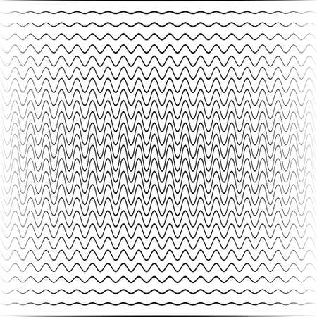 Wave background, transition of sound waves with different amplitudes and phases, attenuation propagation radiowaves in space Ilustração