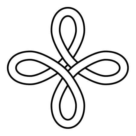 Celtic Heraldic Knot Bowen Symbol vector Bowen Cross true Lovers Knot Ilustração