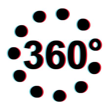 360 Degree 3d Stereoscopic Effect Vector Viar 360 degree 3d sign vr