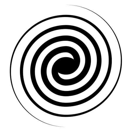 Spiral swirl icon, swirl sign vector double spiral galaxy evolution symbol Ilustração
