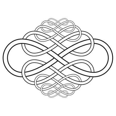 Calligraphy knot pattern from the infinity symbol vector calligraphy knot infinity sign 向量圖像