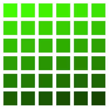 Green color palette vector green vegetation grass color palette Ilustrace