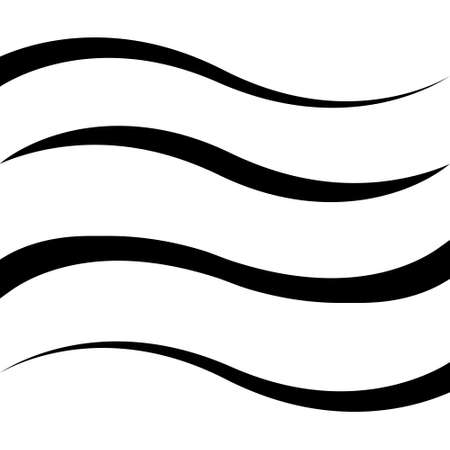 Set curved calligraphy line stripe, vector, ribbon as a road element calligraphy gracefully curved line Иллюстрация