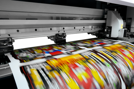 대형 프린터 형식의 잉크젯 작업