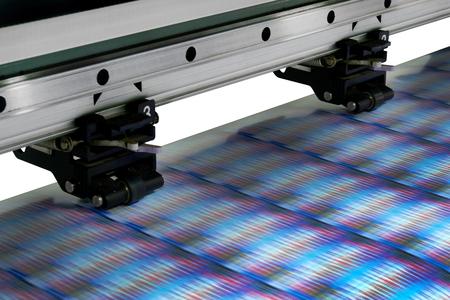 Großes Druckerformat Inkjet arbeiten Standard-Bild - 84050112