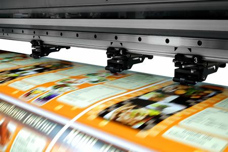 Impresora de inyección de tinta de formato grande Foto de archivo