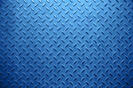 Blauer Metallhintergrund mit abstrakter Kunst.