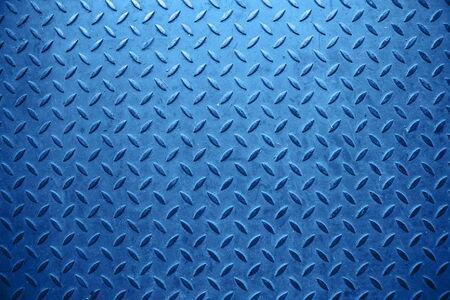 Fondo in metallo blu con arte astratta.