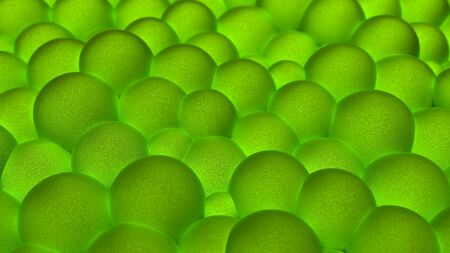 Abstract texture made of spherical objects of green color.