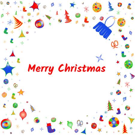 Vector greeting card with Christmas ball Imagens - 124887471