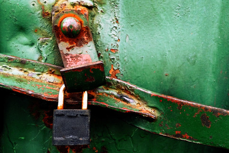 grunge rusty green metal texture of cargo container