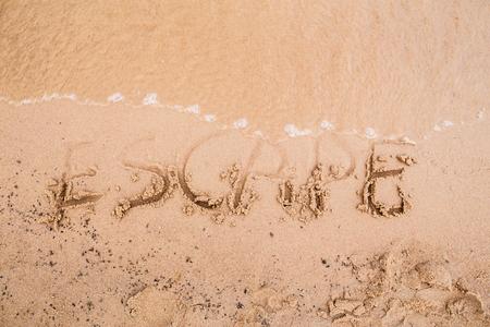 escape: Inscriptions on the sand: escape