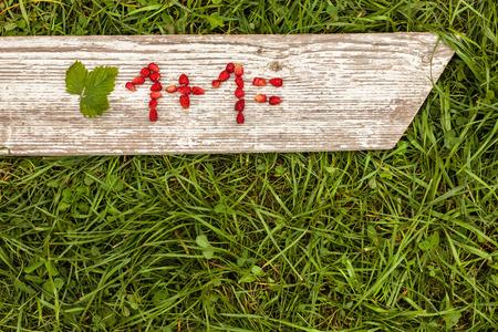 signos matematicos: Los números y signos matemáticos de fresas