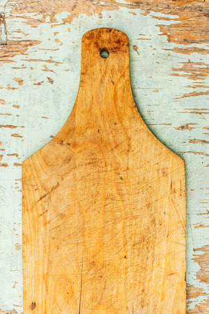 scratches: Place for cooking: the old board with scratches and markings